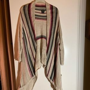 Asymmetrical striped Torrid cardigan